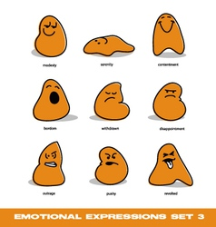 emotional expressions vector image