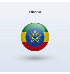 Ethiopia round flag vector