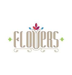 Flowers - elegance logo template for flower shop vector image