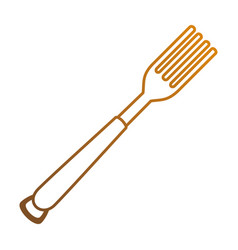 fork cutlery isolated icon vector image