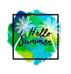 hello summer2 vector image vector image