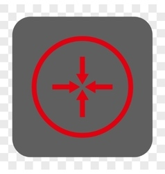 Impact arrows rounded square button vector