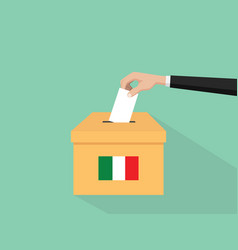 Itlay election vote concept with vector