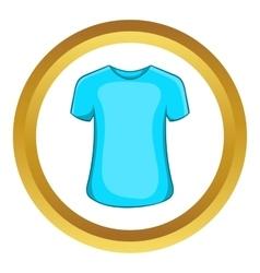 Mens summer t-shirt icon vector