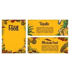 Mexican traditional food restaurant menu template vector image vector image