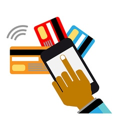 Mobile payments and communication vector image