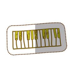 Musical piano instrument icon vector