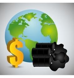 Oil price design vector
