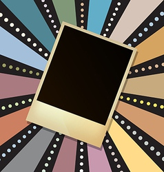 picture frame on retro sunbeam vector image vector image