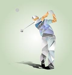 Polygon of a golfer vector image vector image