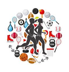 sports lifestyle design vector image