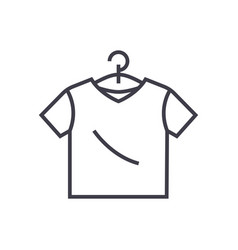 t-shirt line icon sign on vector image vector image