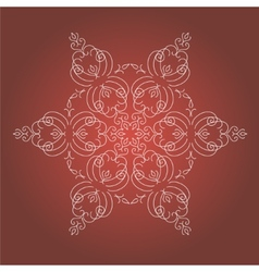 Vintage Christmas background with isolated vector image vector image