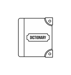 English dictionary icon outline style vector image