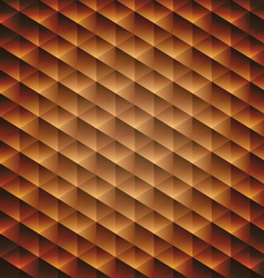 Gold gradient geometric cubic background vector