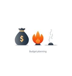 Money loss burn budget finance plan investment vector
