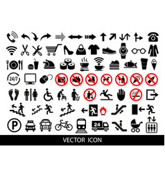 Public icons advertising and marketing icons vector