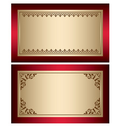 Red and gold vintage backgrounds with brown vector
