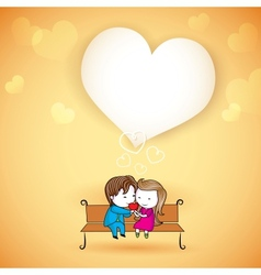 Happy loving couple on love background vector