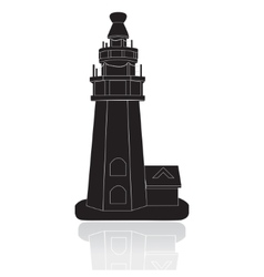 Silhouette of the lighthouse vector image