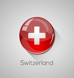 European flags set - switzerland vector