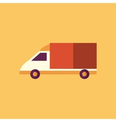 Van transportation flat icon vector