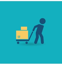 Loader with cart icon vector