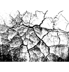 cracked grunge texture vector image