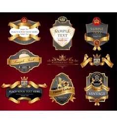 Vctor luxury labels vector