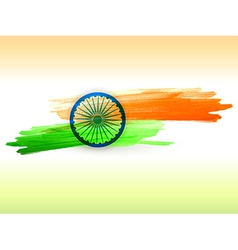 Indian flag made with color strokes vector