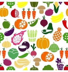 Vegetables and fruits background vector