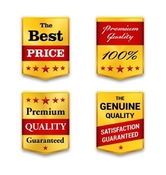 Best golden metal badges set gold medal or vector