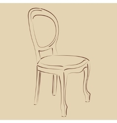 Elegant sketched chair vector
