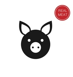 Real meat vector
