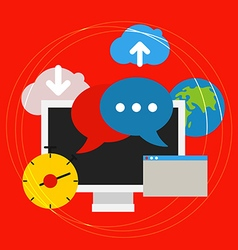 Communication technology concept vector