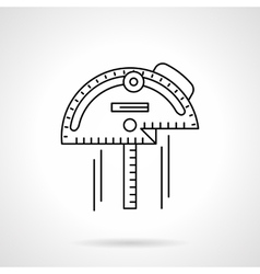 Inclinometer flat thin line icon vector