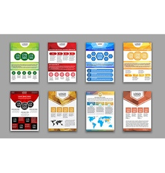 Set polygonal brochures and flyers vector