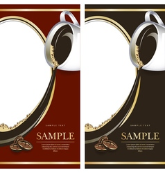 Set of black and red labels for chocolate or coffe vector