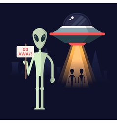 Aliens protest vector