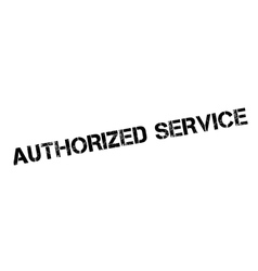 Authorized service rubber stamp vector