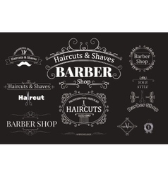 Barber shop logotypes vector