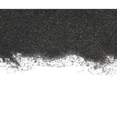 Black sand on white background vector image