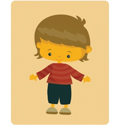 boy vector image