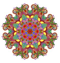 Decorative spiritual indian symbol of lotus flower vector