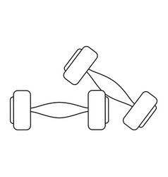 Dumbbells gym weight vector