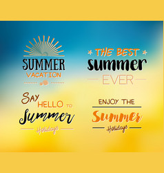 enjoy the summer time logo template vector image vector image