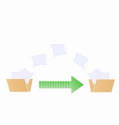 Fild transfer vector image vector image