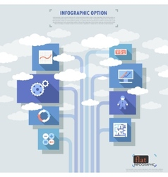 Flat infographic options banner vector