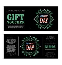 Gift voucher Veterans Day vector image vector image