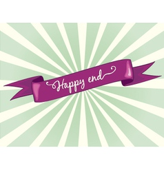 happy end vector image vector image